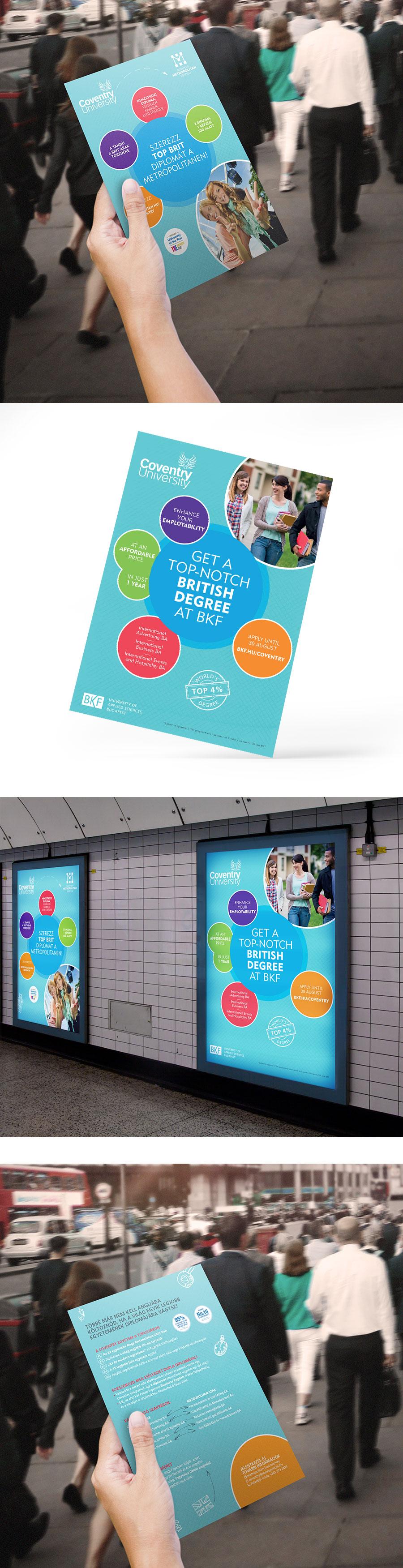 Hirdetési arculat tervezése - Coventry University, METU