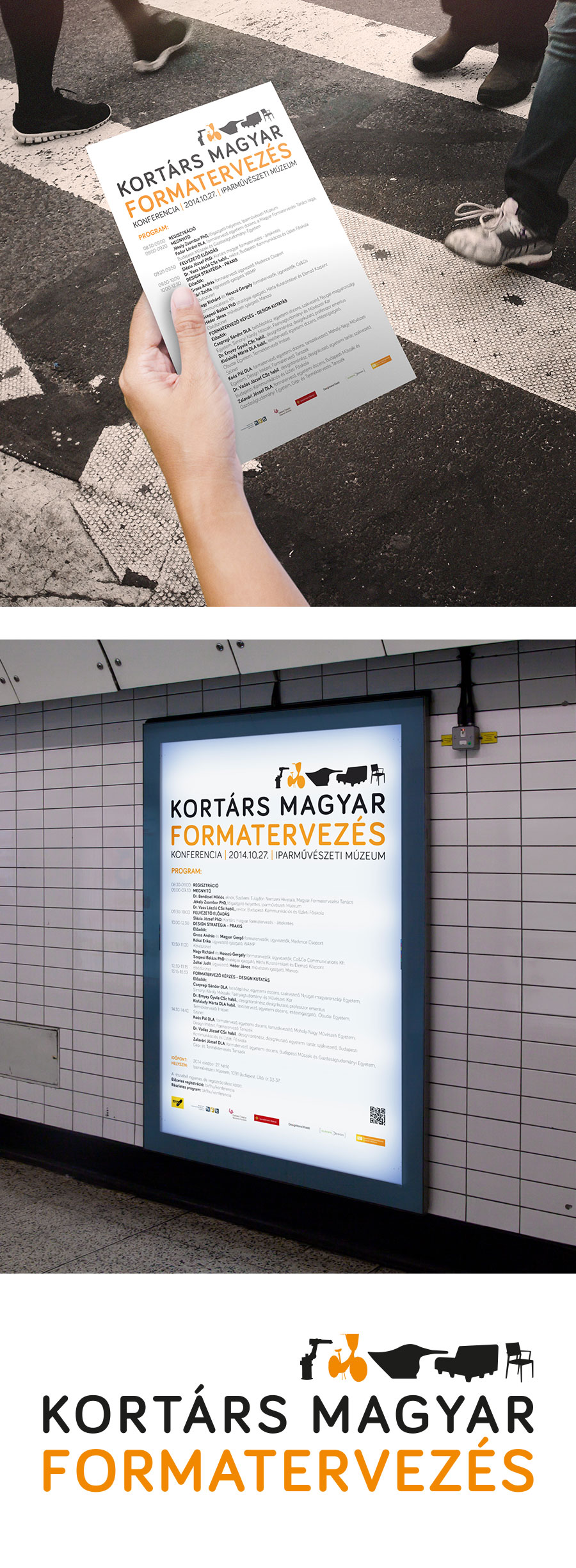 Rendezvény arculattervezése - Kortárs Magyar Formatervezés