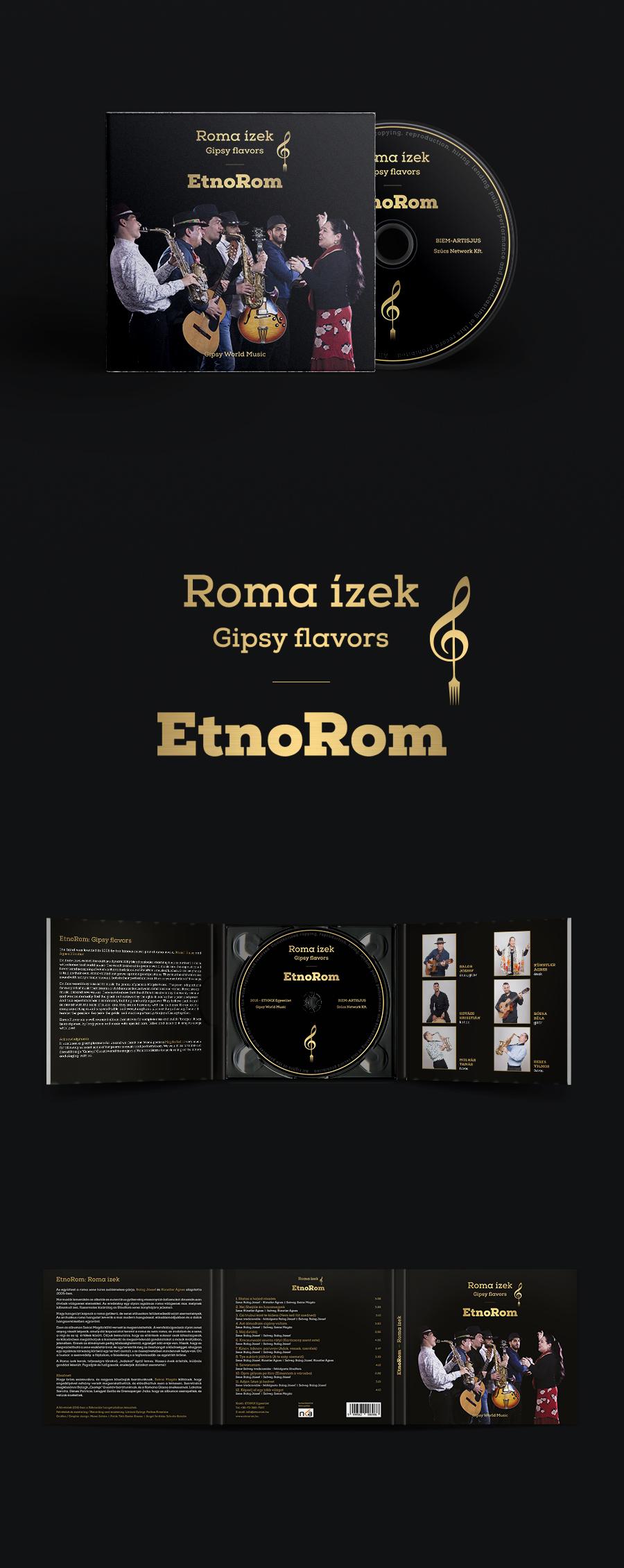 CD borító tervezése - EtnoRom