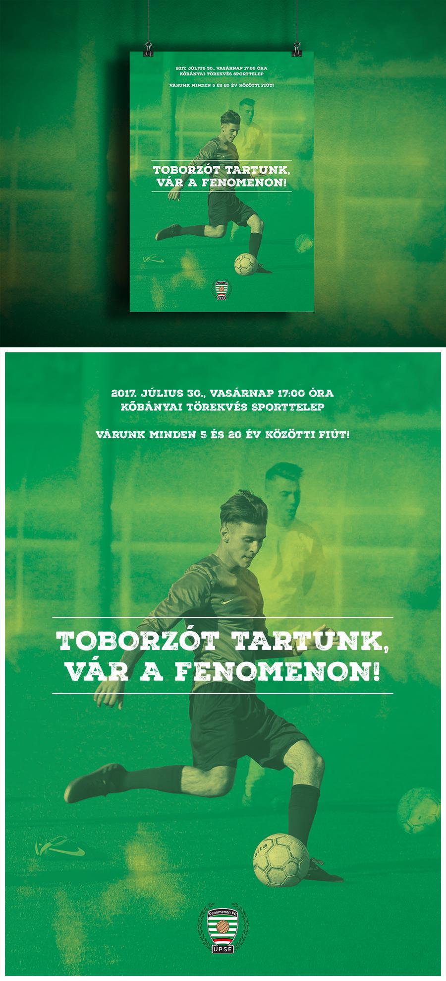 Plakát és szórólap tervezése – Fenomenon FC